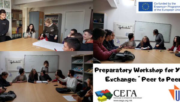 "Preparatory workshop for Youth Exchange: ""Peer to Peer"""