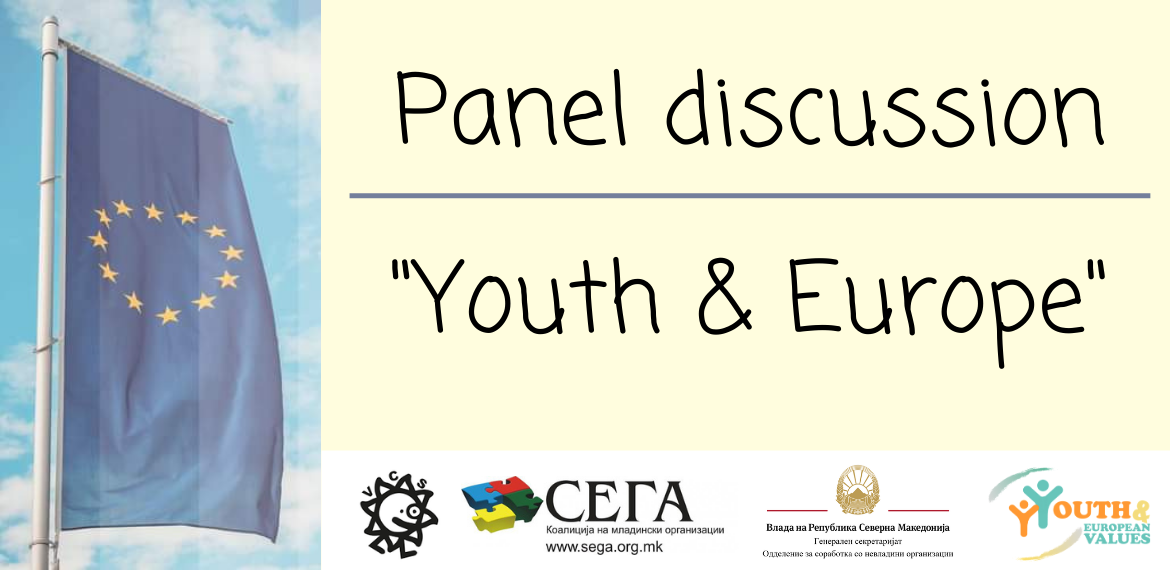 "Volunteers Centre Skopje: Panel Discussion ""Youth and Europe"""